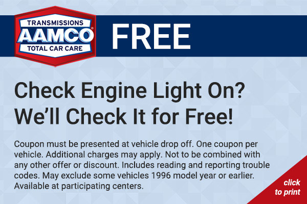 Free Check Engine Light Coupon