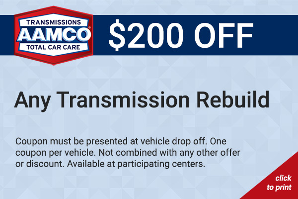 $200 transmission rebuild coupon